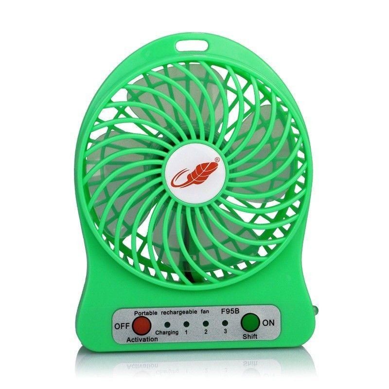 100% testado recarregável diodo emissor de luz ventilador de ar refrigerador mini mesa usb 18650 bateria recarregável ventilador com pacote de varejo para pc computador portátil
