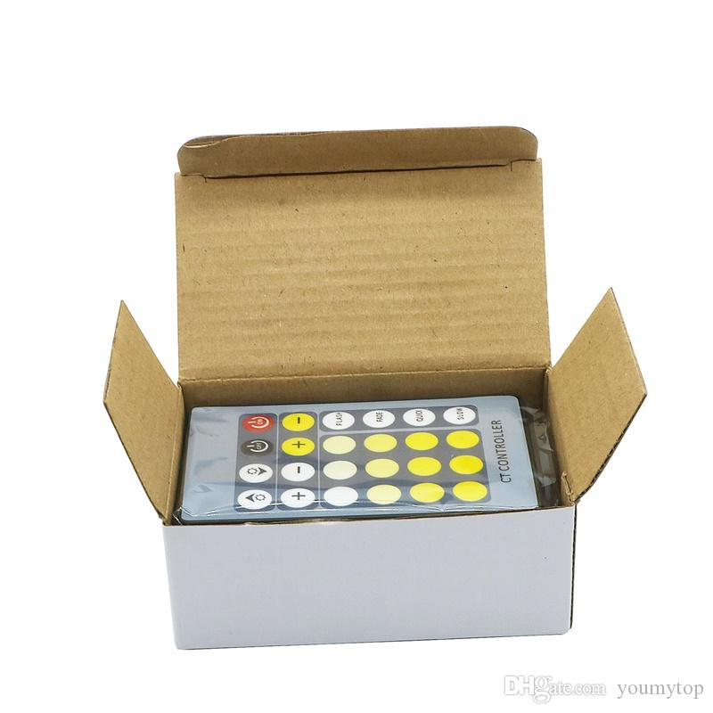 24 Key IR Remote Dimmer Controller Two Color CW+WW CCT Adjustment Color Temperature For 5050/3528 Led Strip Light