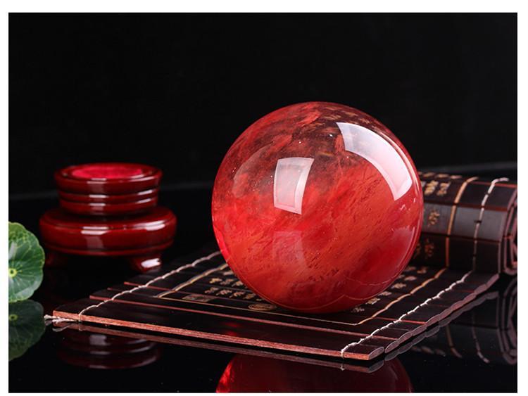 48--55 mm rosso Sfera di cristallo rossa Sfera di cristallo Sfera di cristallo Sfera di cristallo artigianato curativo documentazione la casa regalo d'arte
