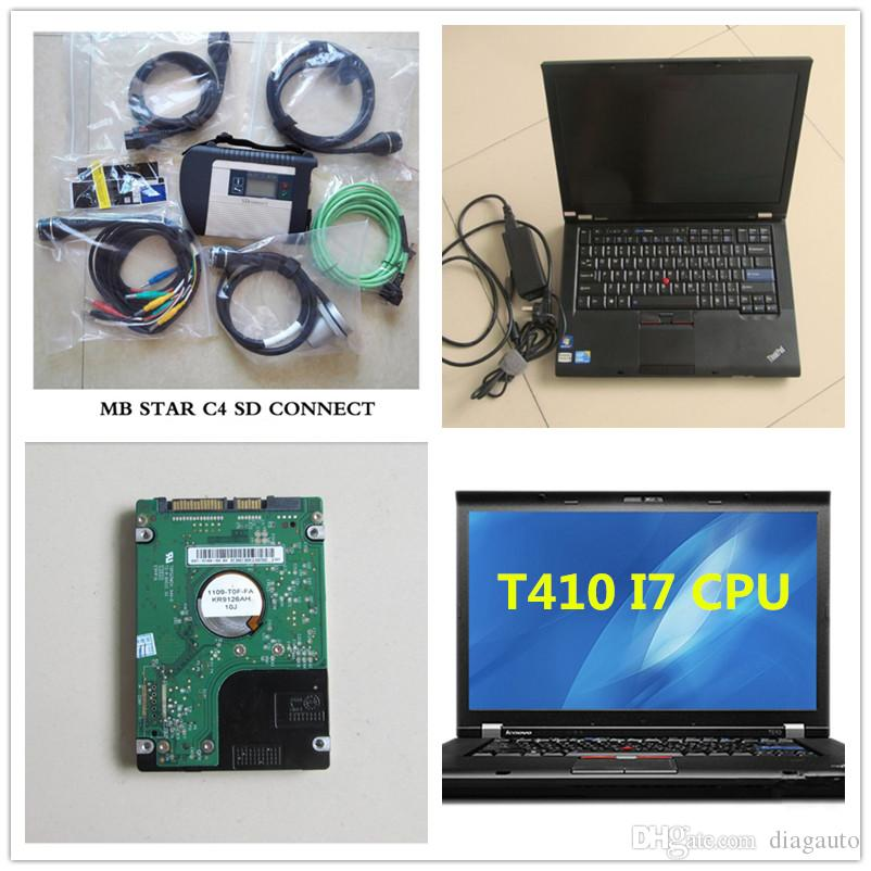 2017.09 Professional diagnostic tool Mb star c4 sd connect with stable laptop Lenovo T410 I7 CPU 4G latest version 320GB HDD