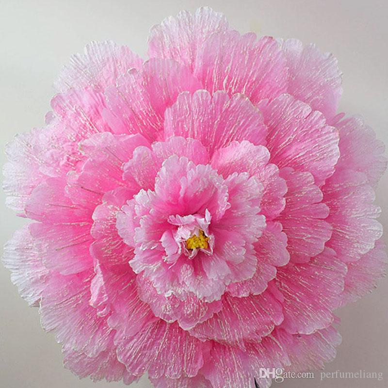 70cm Retro China Peony Flower Umbrella Props Dance Performance Props Fotografía de boda Disfraces 80cm 90cm 100cm 110cm Paraguas ZA3484