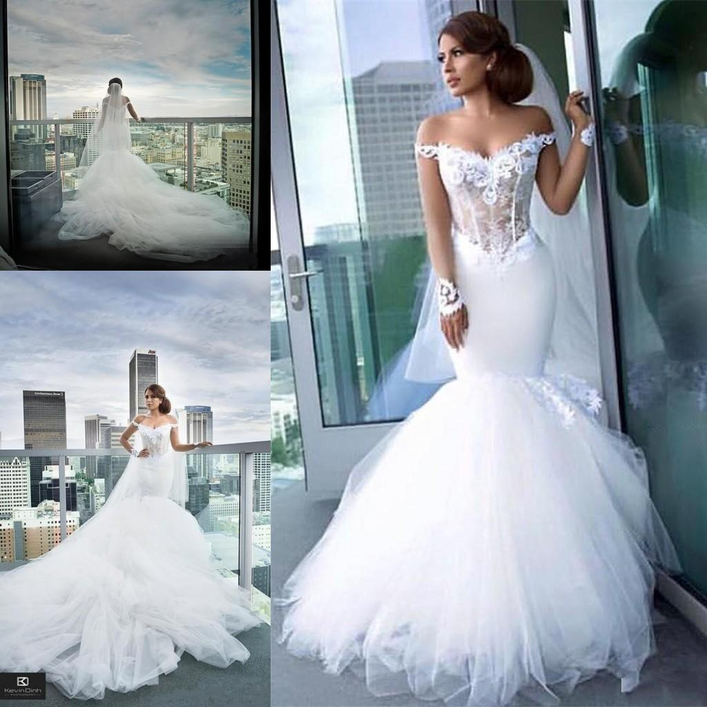 Gorgeous wedding dresses sexy mermaid off the shoulder sheer long gorgeous wedding dresses sexy mermaid off the shoulder sheer long sleeve illusion bodices low back cathedral train vestidos de novia gowns mermaid tail ombrellifo Gallery