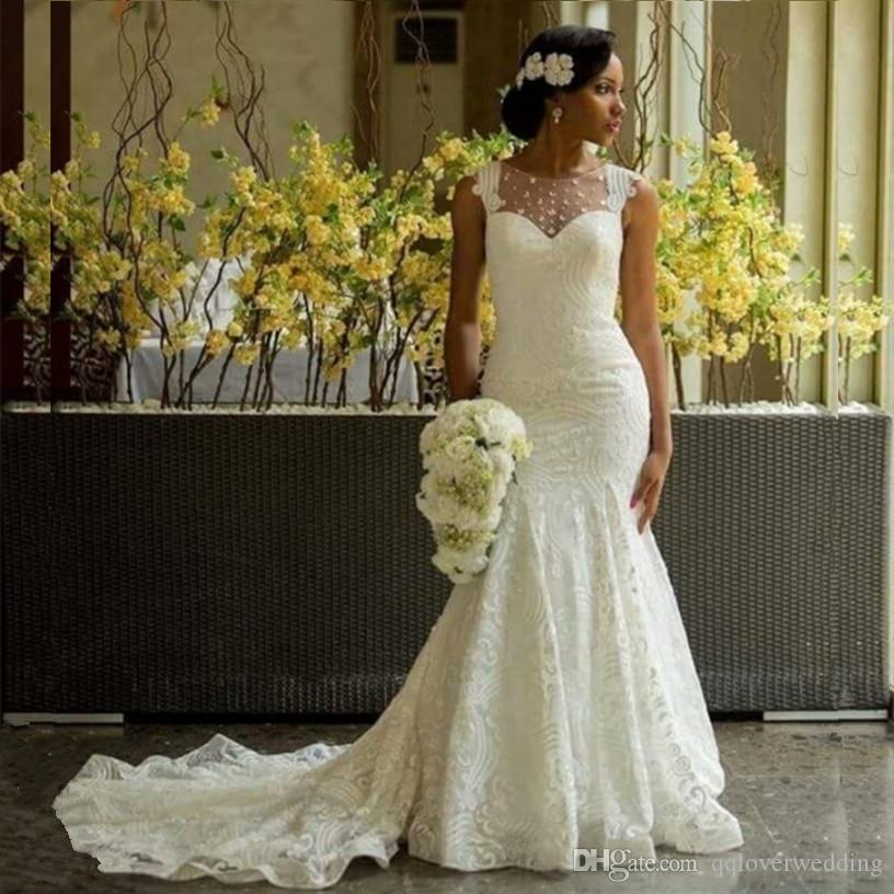 Luxury African Mermaid Wedding Dresses Amazing Sheer
