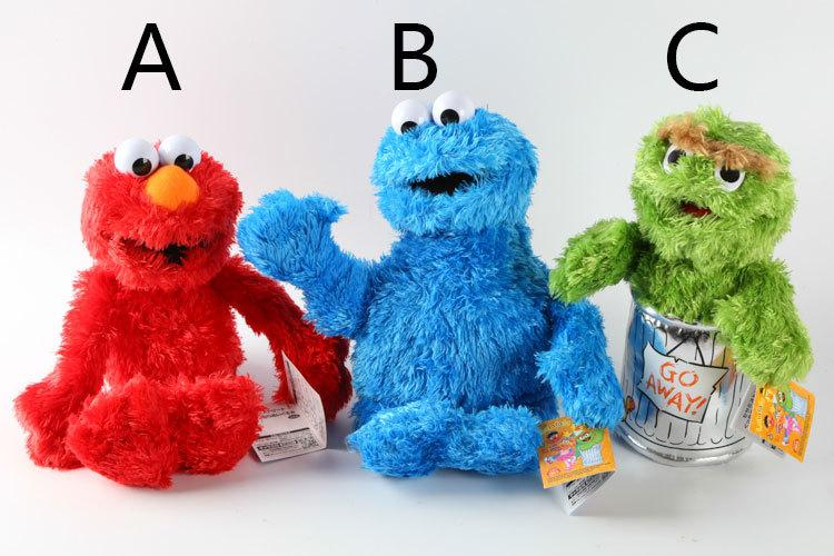 7 Styles Sesame Street Hand Puppet Plush Toys Elmo Cookie Monster Ernie Big Bird Grover Stuffed Dolls Kids Best Gift