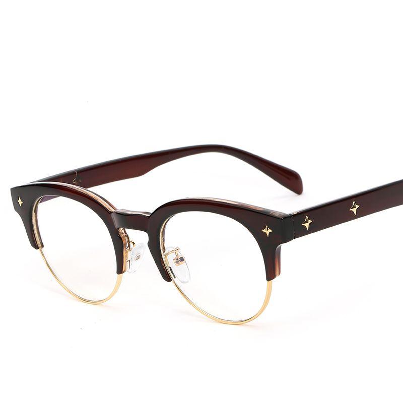 1caa00a3e4 2019 Korea Round Semi Rimless Glasses Frame Unisex Women Men Optical Frame  UV400 Clear Lens Glasses Plastic Oculos From Cheno glasses