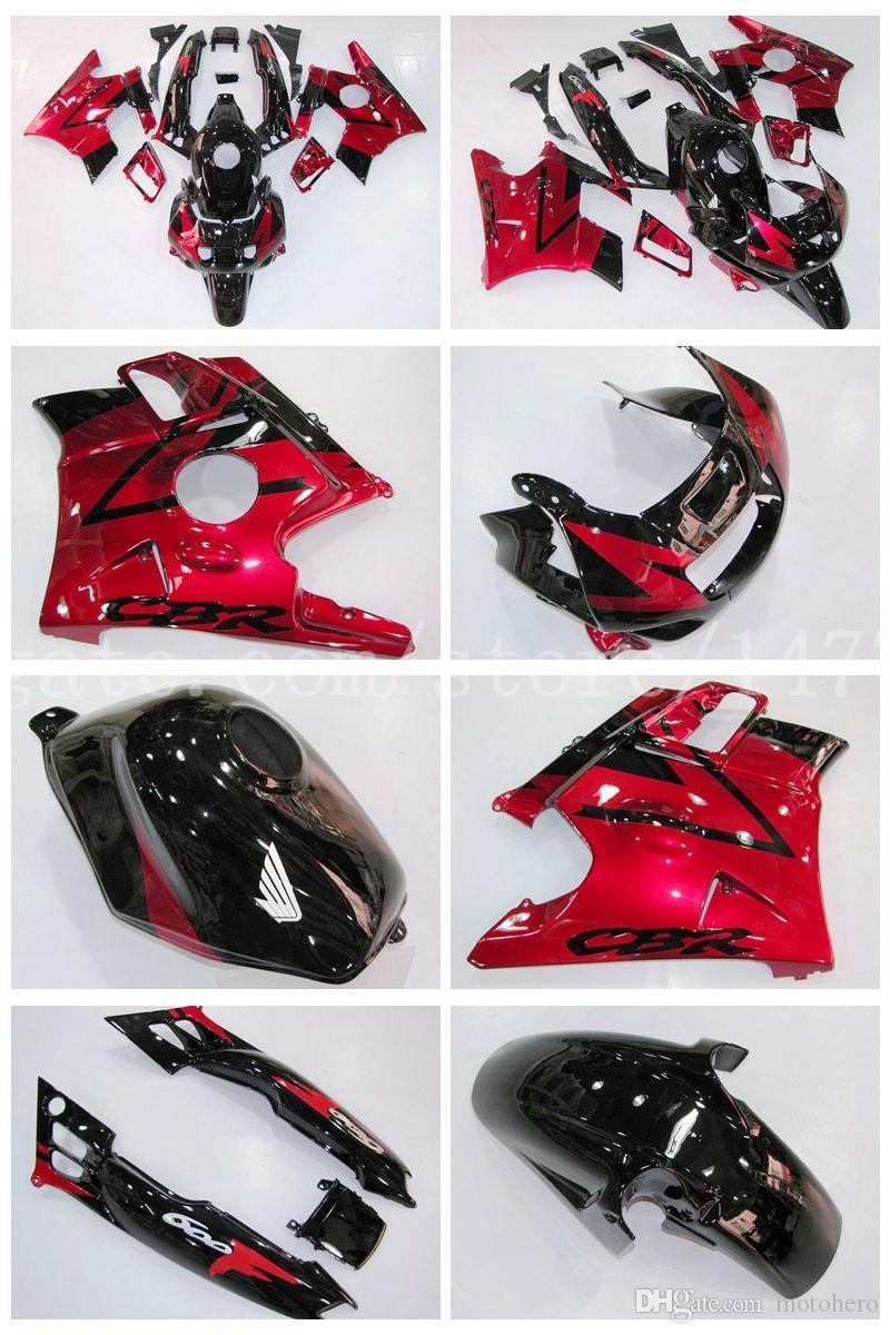 High quality Fairings+tank for Honda CBR600 F2 91 92 93 94 CBR 600 1991 1992 1993 1994 CBR600F2 fairing kits #f83k4 Red black