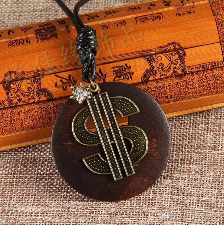خمر الصلبة قلادة خشبية الزرافة نجاو تاو عبر القلب سلسلة الجلود الحبل سترة من الرجال والنساء أنيقة اليدوية عيد الميلاد هدايا 12p جيم