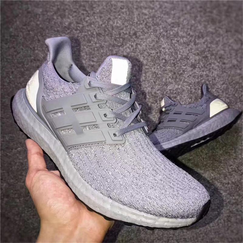 99a7cc7aba4 2019 With Original Box Ultra Boost LTD 3.0 KAWS X HUYCUSTOMS Running Shoes  BA8144 Triple Grey White 2017 Newest Real Boost Black Bottom From Amigo239