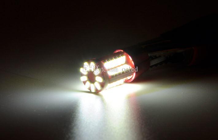Super Bright 5W T10 57 SMD 3014 LED W5W LED Car Light Clearance Lights White LED Car Side Wedge Lamp License Plate Light Reading Lamp