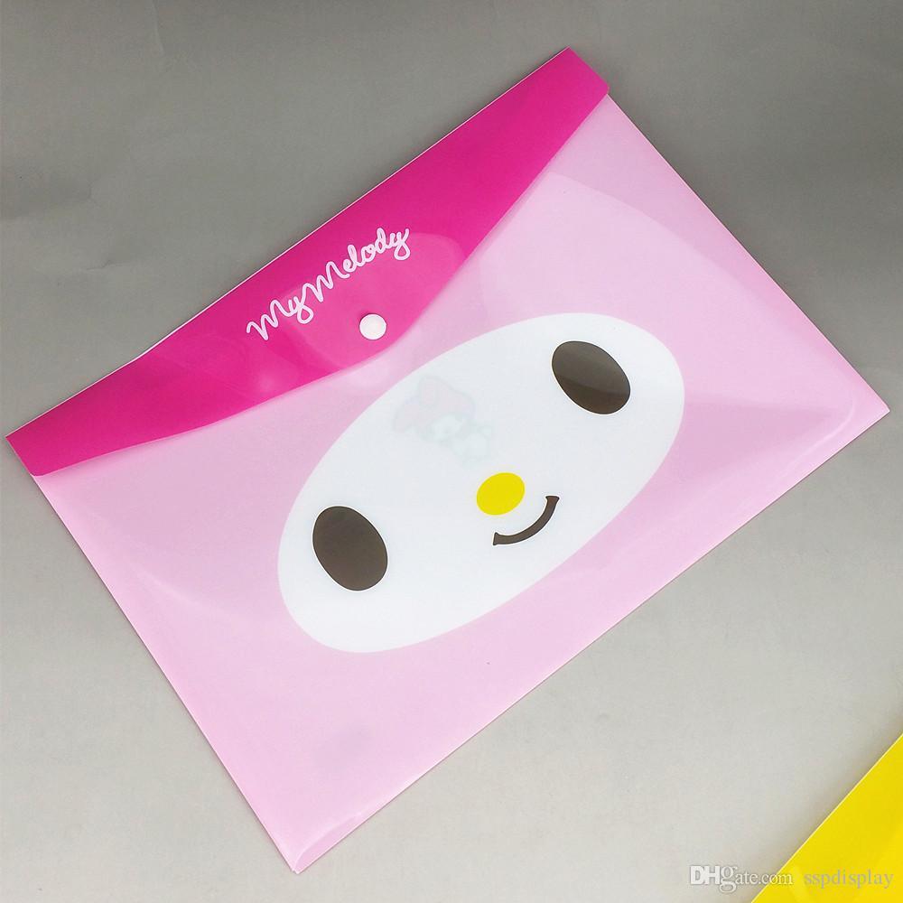 البلاستيك A4 ملف وثيقة مجلد ملف زر حامل حقائب الجيب القرطاسية التخزين ملء المنظم الجدة نوع 10 قطعة / الوحدة