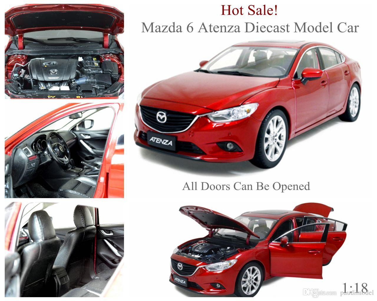 2019 Brand New Alloy Diecast Model Car For Mazda 6 Atenza Scale 1:18 Open Doors Retail And ...