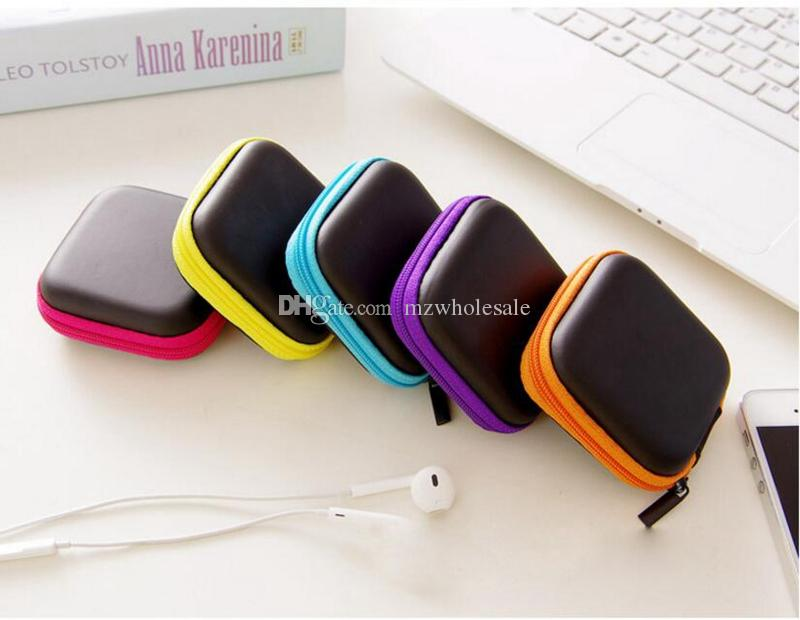 Earphone Wire Cables Storage Box Zipper Protective Data Line battery Storage Container Organizer Case Earbuds SD Card Box colorful color new