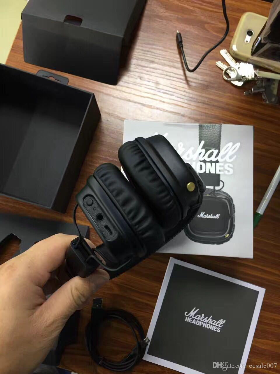 Marshall Major II 2.0 Bluetooth 무선 헤드폰 무선 마샬 메이저 II 헤드셋 DJ 헤드폰 스튜디오 헤드폰