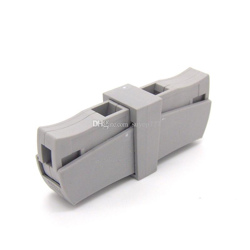 10 шт. / лот suyep 224-T-201 универсальный компактный клеммный блок со светодиодным освещением серый клеммный блок проводов нажимной провод H