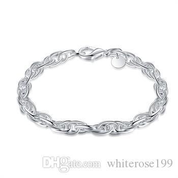 Hurtownie - detaliczna najniższa cena prezent świąteczny, darmowa wysyłka, nowa bransoletka mody 925 srebrna H138