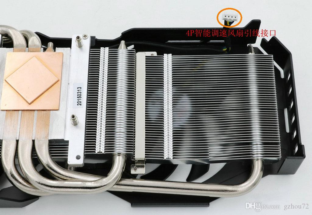 New Original for DATALAND R9 280 280X Graphics card heat pipe radiator cooling fan