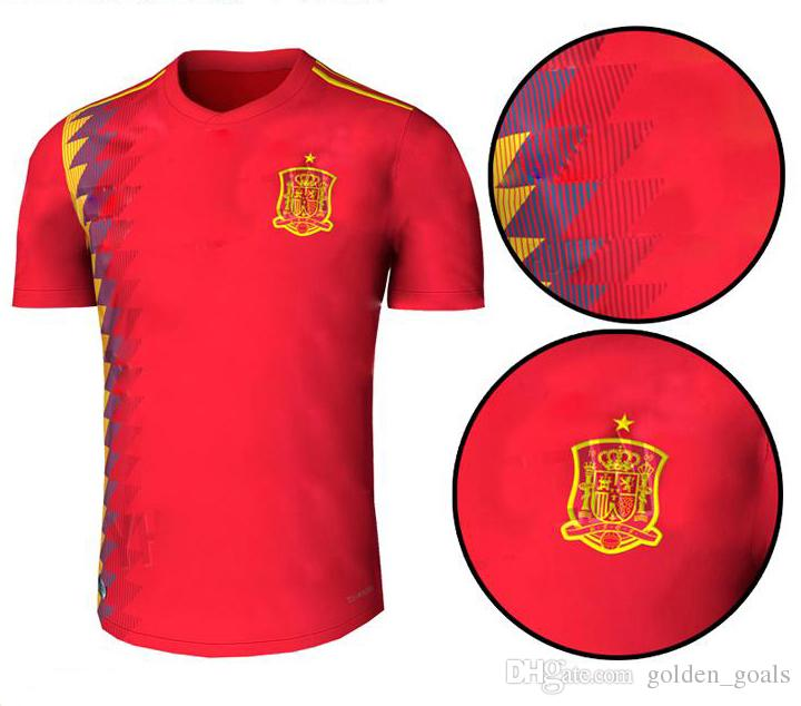 d2b367ac97e 2019 Spain 2018 World Cup Espana Morata A.INIESTA FABREGAS RAMOS DIEGO  COSTA SILVA ISCO Home Red Shirt ASENSIO Soccer Jerseys Football Kit From  Golden_goals ...