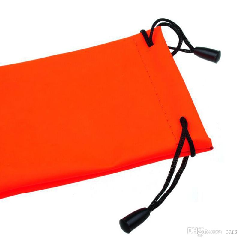 Durable Waterproof Leather Plastic Sunglasses Pouch Soft Eyeglasses Bag Glasses Case Mixed Colors Eyewear Accessories