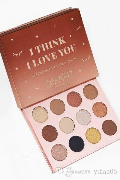العلامة التجارية الشهيرة colourpop I Think I Love You ظلال العيون ، 12 ألوان ، سفينة حرّة مضادة للماء وطويلة الأمد