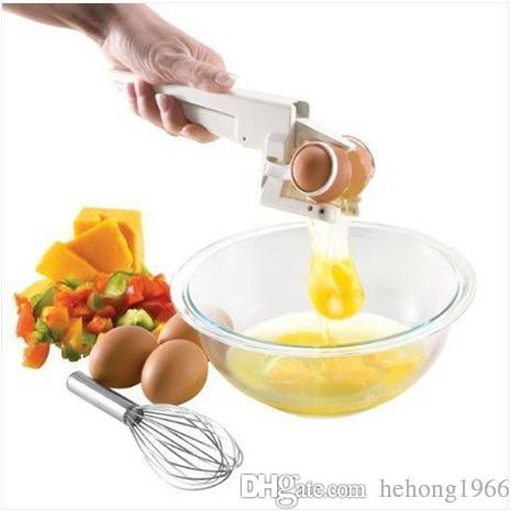 Egg Separator Popular White Manual Eggs Cutter Holder Practical Divider Creative Kitchen Tools Hot Sale Top Quality 5 4tf R