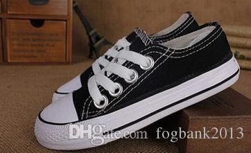 Yeni marka çocuklar kanvas ayakkabılar moda yüksek-düşük ayakkabılar erkek ve kız spor tuval çocuk ayakkabı