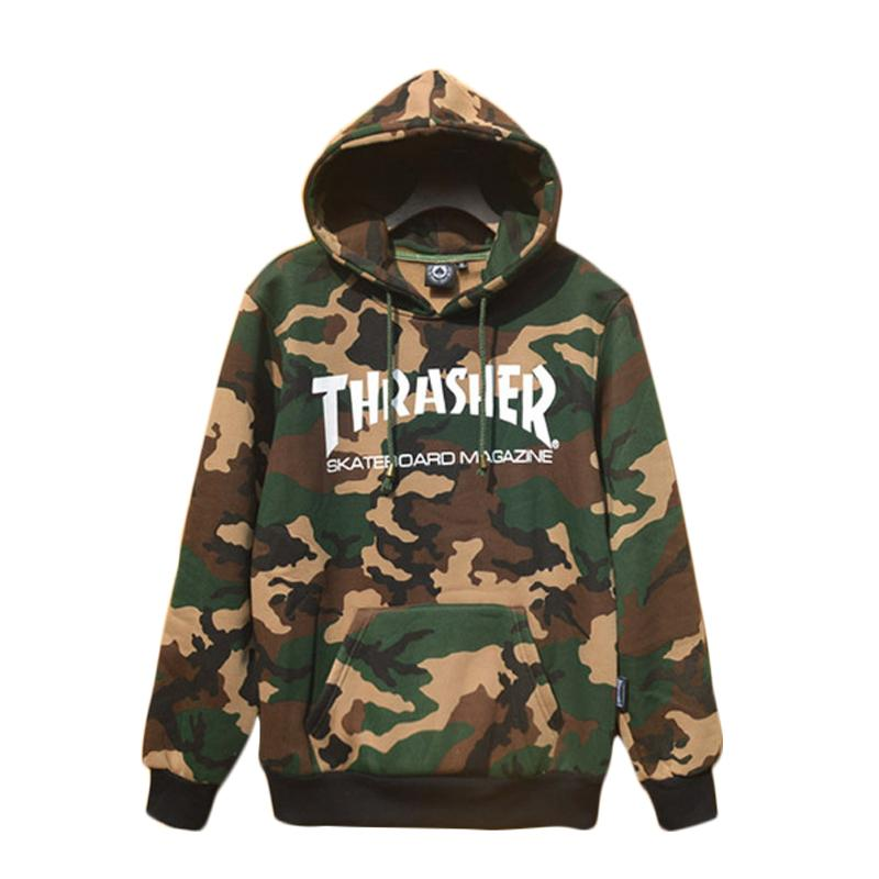 b79d2150eaf5 2019 Wholesale Thrasher Hoodies Men Skateboard Hoody Fleece Sweatshirt  Pullover Camouflage Tracksuit Hip Hop 2017 Graphic From Lbdapparel