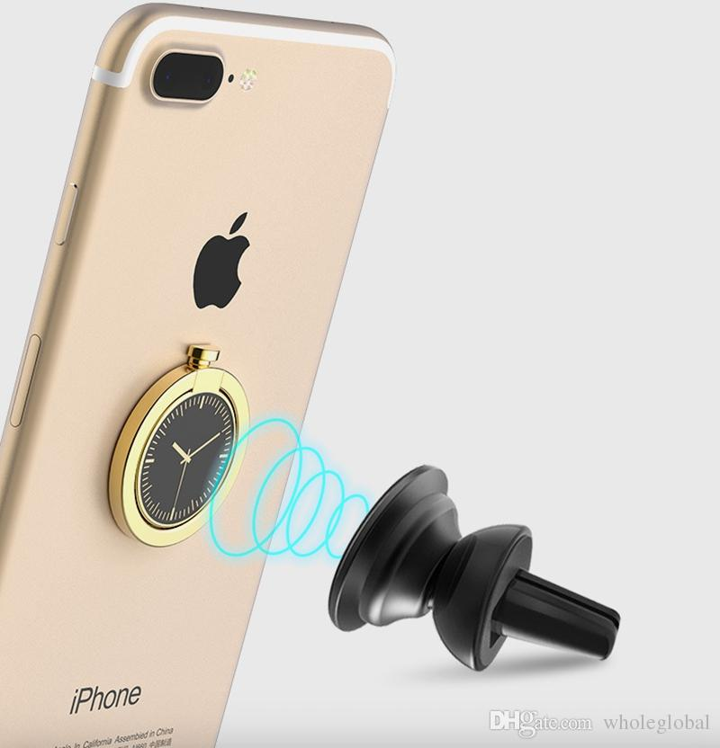 Watch Finger Ring Holder Universal Mobile Phone Smartphone Watch Shape Stander Finger Grip for iPhone Smart Phone Luxury Couple Style