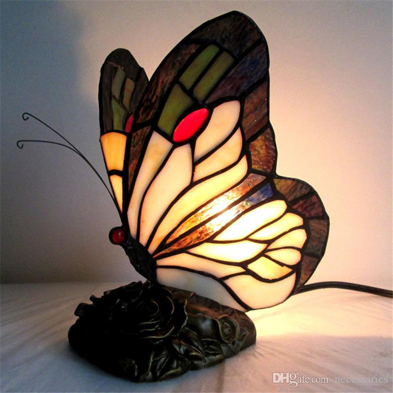 Awesome 2018 Stained Glass Butterfly Table Lamp Art Creative Tiffany Lamp For  Living Room Bedside Lamps Decor Art Glass Table Lights Desk Lamp From  Necessaries, ...