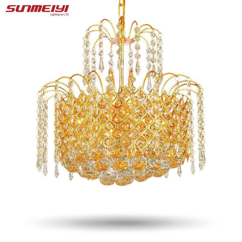 2017 gold crystal chandelier lamp luxury crystal fixture lights 2017 gold crystal chandelier lamp luxury crystal fixture lights lusters de cristal chandeliers ceiling for living room wagon wheel chandelier wine barrel aloadofball Image collections