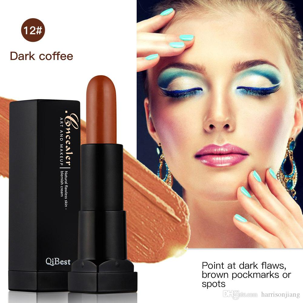 Qibest 3D Cover Stick Concealer Natural Flawless Blemsh Cream Shaping Makeup Sticks Bright and Dark