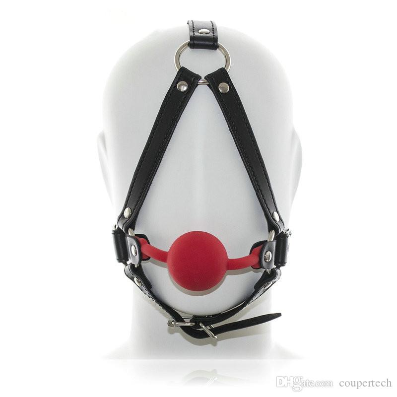 PU Mask Harness With Rubber Ball Gag Harness new Bondage Sex Mask Sex Toys For Couple Sex Products CP-RC008