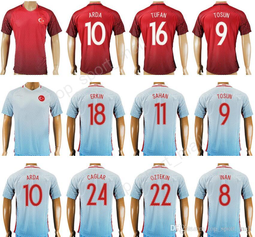 2019 2017 Turkey Soccer Jersey Thailand Personalized 10 ARDA 9 TOSUN 8 INAN  9 SUKUR 18 ERKIN 11 SAHAN Football Shirt Uniform Kits Foot Tshirt From ... e874b1aea