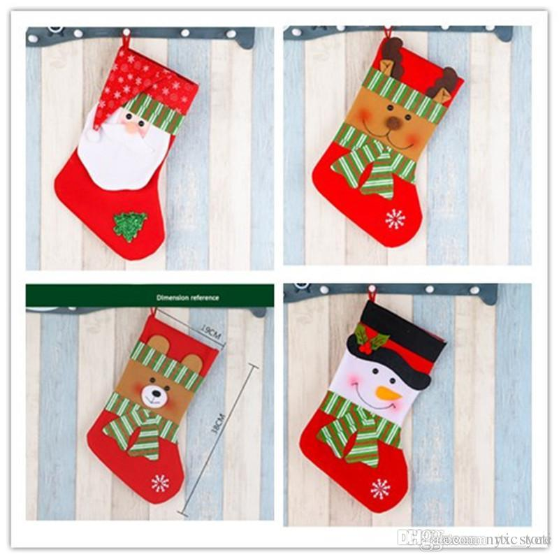 Großhandel Heiße Weihnachtsstrumpf Süßigkeit Nicht Gesponnene ...