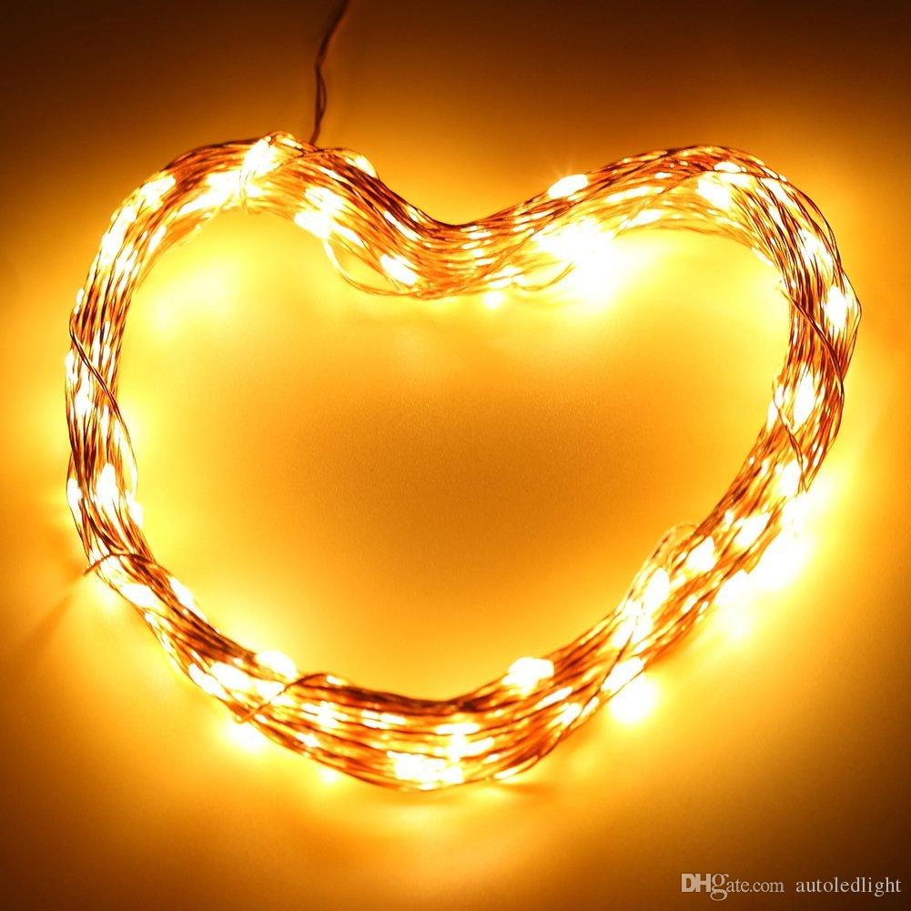 solar power Christmas lights 10m 100 LED Copper Wire LED String Light Starry Lights holiday lights