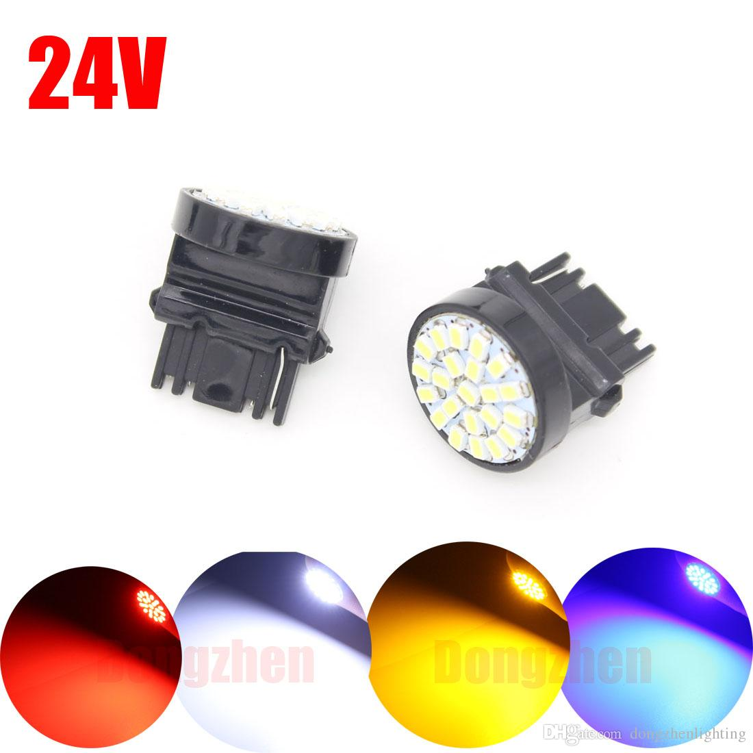 1X Motor Auto Car bulbs Headlight 3156 T25 S25 22 LED 24v 12v Additional Brake Lights Reversing Rear Tail Tur Signals Marker Lamp DRL
