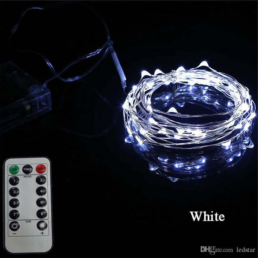 16ft 33ft LED Fairy Light Batterie betrieben Strings Licht mit Fernbedienung für Garten Halloween Thanksgiving Weihnachten Neujahr Dekoration