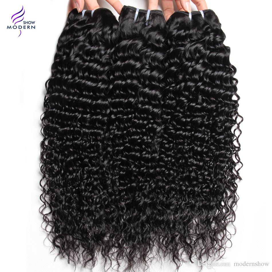 Brasilianisches reines Haar-Bündel Brasilianisches verworrenes gelocktes Haar 4 Bündel Menschenhaar spinnt natürliches Schwarzes Kann gefärbt werden und gebleicht werden