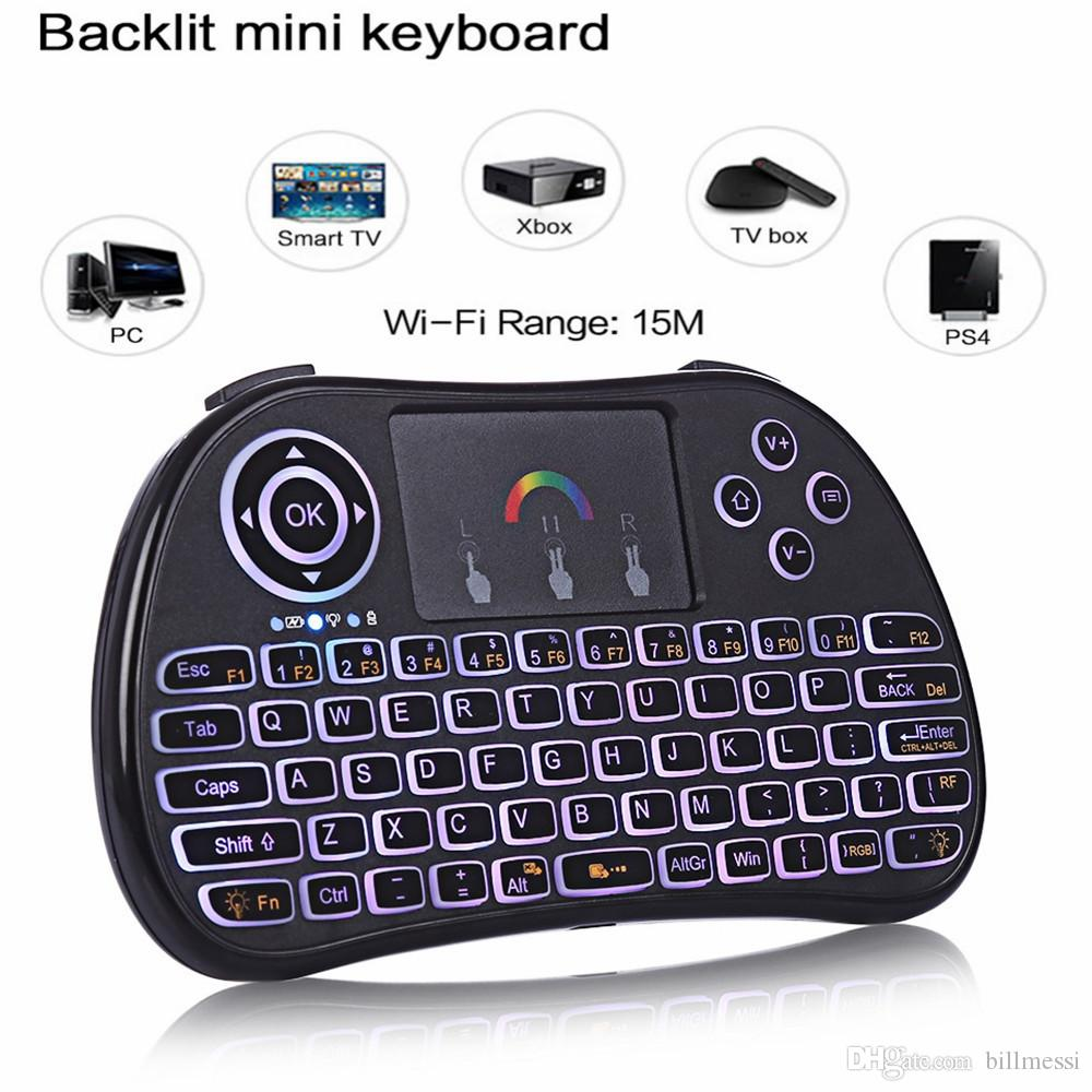 60b8df2b676 TZ P9 Mini Wireless Keyboard 2.4GHz Air Mouse with Backlit Remote Control  Touchpad for Android TV Box Google Smart TV PK I8 M2S +B