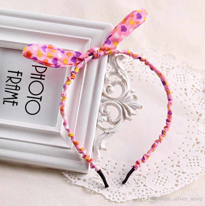 Горячие продажи украшения для волос цветочные милые ткани кроличьи уши волос обруч волос свинец оголовье tg046 mix порядка 30 штук много