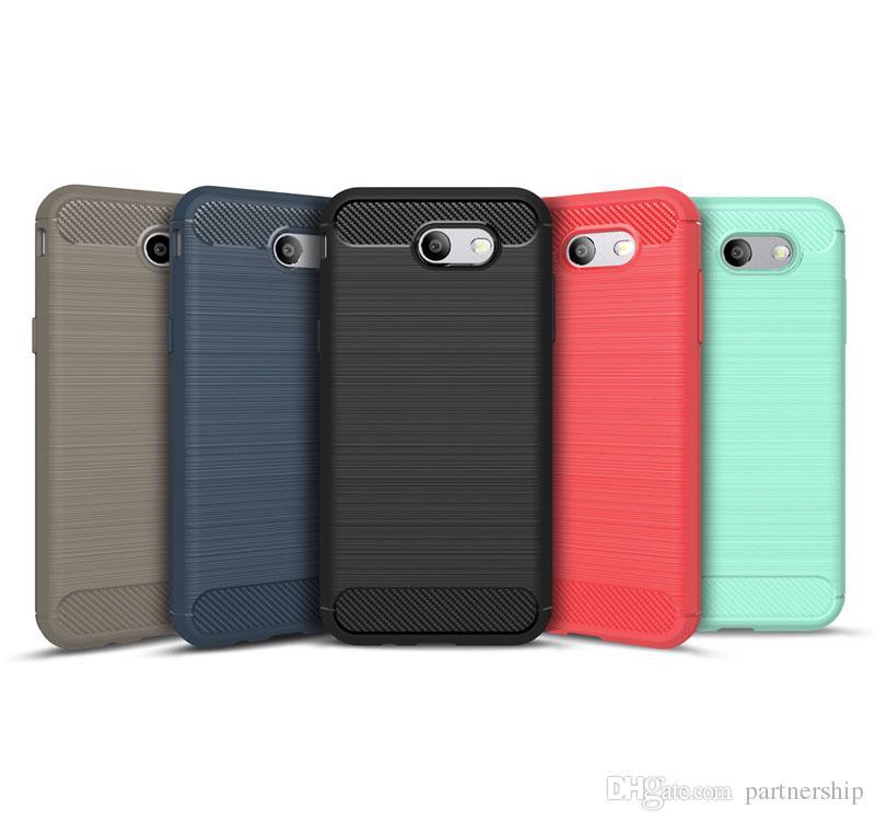 premium selection fe649 5d0e6 Armor Carbon Fiber Soft Rubber Cover Case For Samsung Galaxy J5 J7 J1 mini  J2 Grand Prime J5 J7 J3 2017 J3 Emerge G530 On5 On7 2016 Cover