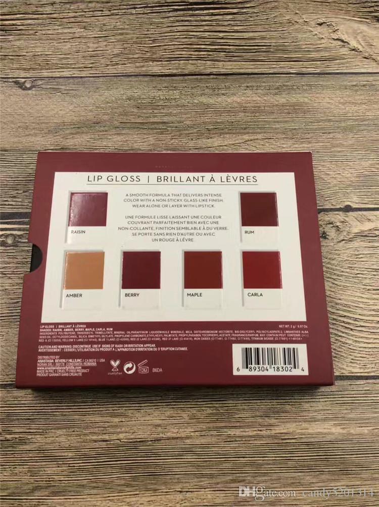 재고!! 뜨거운 메이크업 가을 미니 립 광택 세트 액체 립스틱 / 세트 고품질 DHL 무료 배송 A08