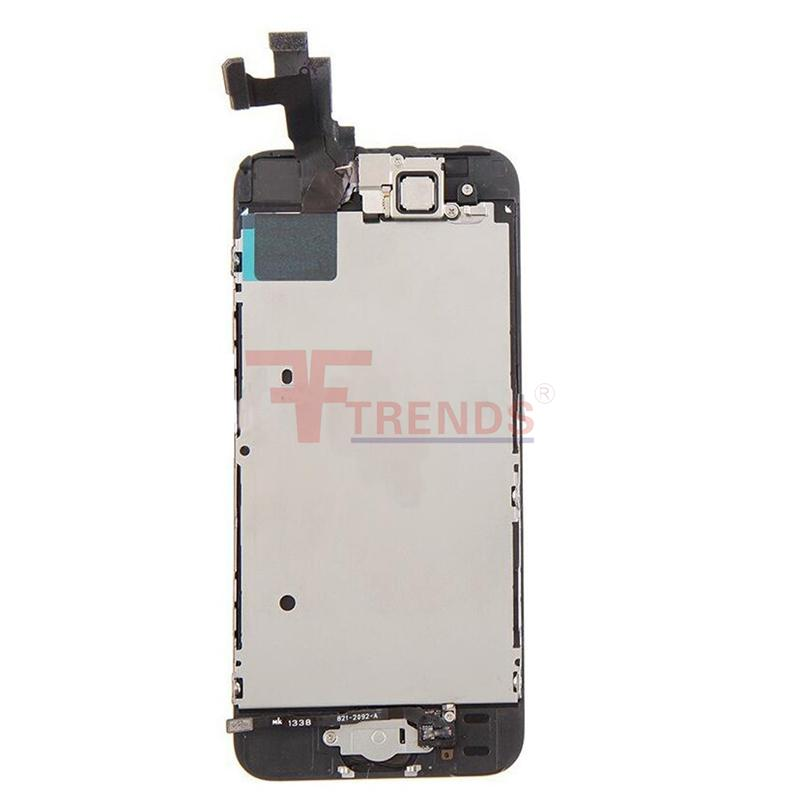 for iPhone 5 5C 5S SE LCD Display & Touch Screen Digitizer Assembly with Home Button and Front Camera Flex Cable & Earpiece 100% Test