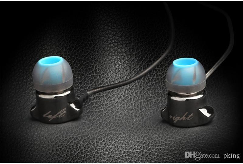 Liga de zinco de Metal Fones De Ouvido Fones de Ouvido Estéreo de 3.5mm Fones De Ouvido de Alta Fidelidade de Super Fino Esporte Correndo Fones De Ouvido Com Microfone