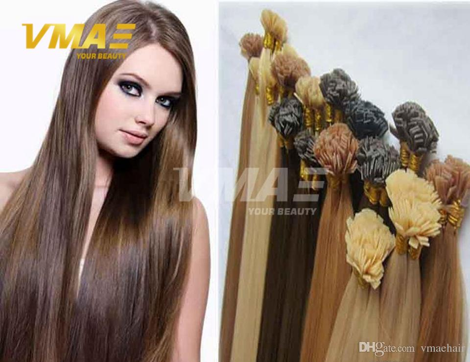 Top Quality Virgin Remy Hair Straight Flat Tip Keratin Fusion Human