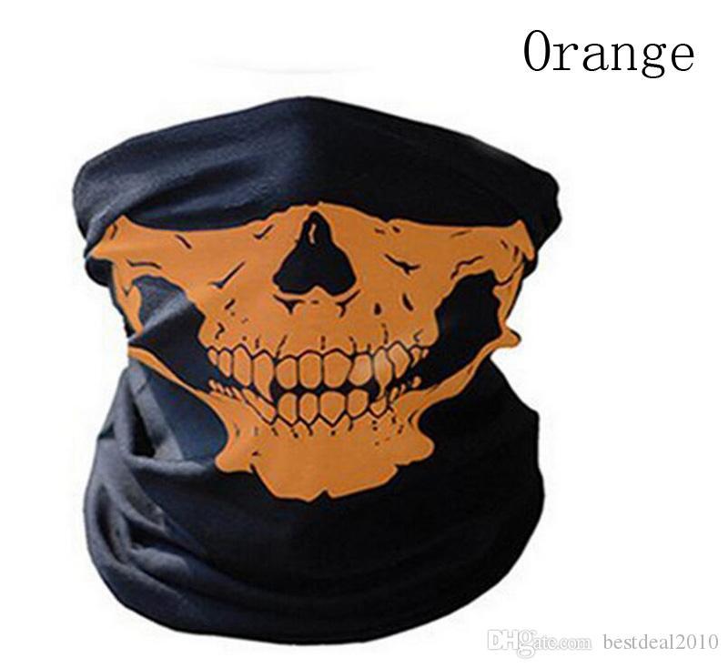 Halloween Scary Mask Festival Skull Masks Skeleton Outdoor Motorcycle Bicycle Multi Masks Scarf Half Mask Cap Neck Ghost Health