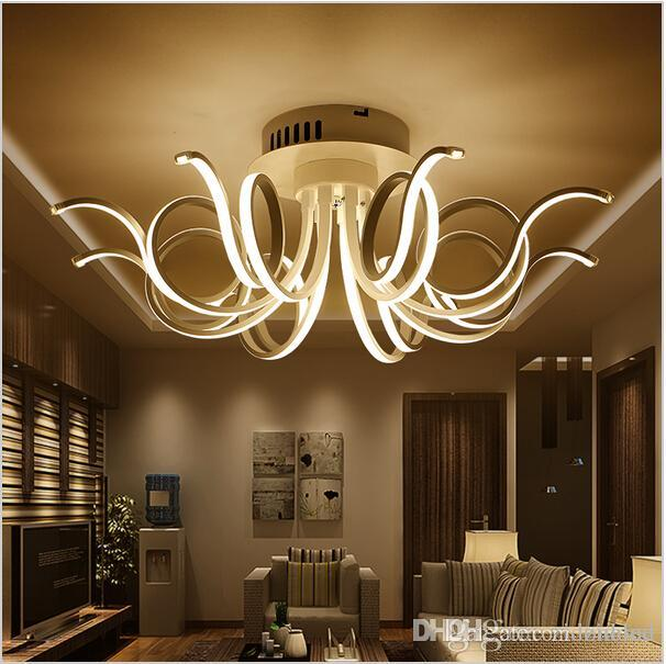 2018 Modern Minimalist Led Ceiling Light Acrylic Chandeliers For ...