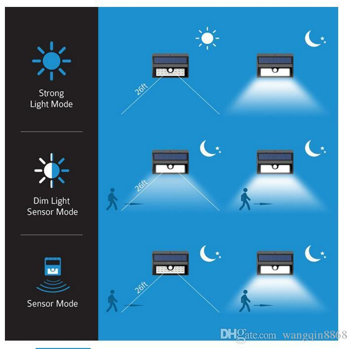 wireless solar powered ir solar light 45 led waterproof ip65 pir
