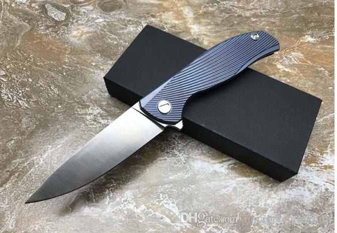 F95 IceBreaker ball bearing Flipper Tactical folding knife D2 blade Titanium handle camping hunting outdoors survival knives EDC tools