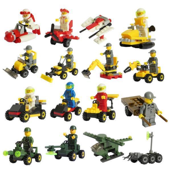 2017 09*7*4.5cm Kids building blocks Vehicle Toy Bricks Children Educational Toys best gifts for kids retail