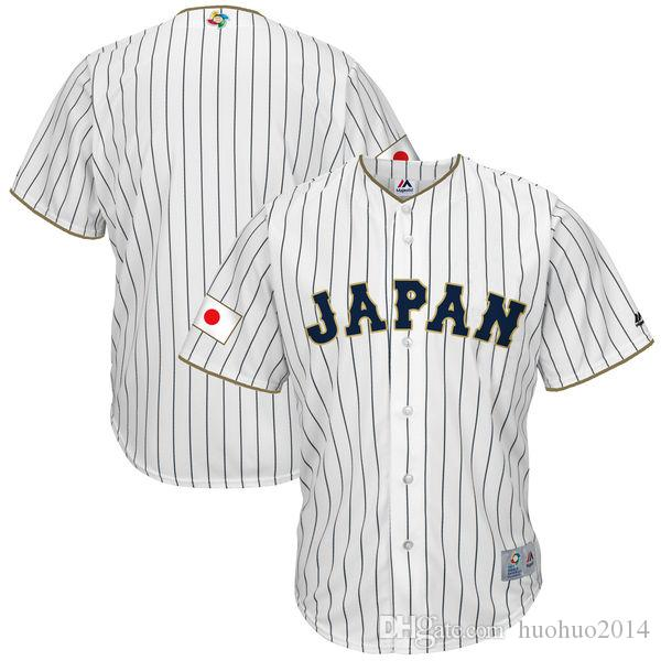 Men Japan 2017 World Baseball Classic Jersey White 100% Stiched Embroidery Logos Customized Cool Base Team Jerseys